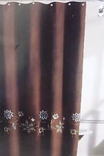 "Grammercy Studio Floral Embrodered Fabric Shower Curtain 70"" x 72"" NIP"