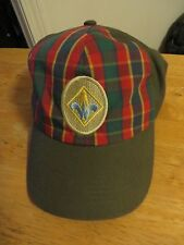 Boy Scouts Webelos Cub Cap Hat Plaid Twill Velcro Adjust M/L Adult NEW