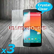 3x Front Clear LCD Screen Protector Guard Film For LG Life's Good Nexus 5 Mobile