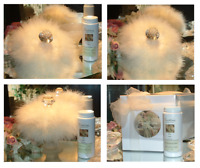 Lemon Sugar Glaze ~ 6 oz Perfumed Dusting Powder with Puff and Glass Stand