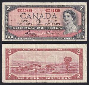 Canada 2 Dollars 1954 BB / VF Pick-76c A-10