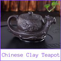 Chinese Teapot Yixing Dragon Purple Clay Tea Pot Handmade Vintage Traditional