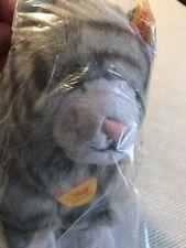 "STEIFF Minka Katze Gray Grey Tiger Cat Plush 7.25"" EAN 099564 Original Tags"