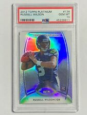 2012 RUSSELL WILSON Rookie RC Topps Platinum #138 Seattle Seahawks PSA 10 GEM MT