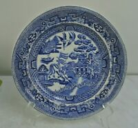 "Blue Willow 8-1/2"" Plate Warranted Staffordshire JM&S John Meir & son England"