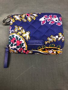 "Vera Bradley Iconic RFID Card Case Romantic Paisley 3.25"" x 4.25"" NEW WITH TAGS!"
