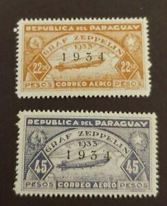 1934 ZEPPELIN SET VF MLH PARAGUAY START $0.99