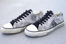 MENS CONVERSE STYLE SILKY CANVAS 9.5 SILVER GRAY BLACK WHITE SNEAKERS MADE JAPAN