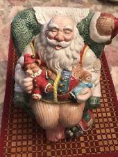 Fitz and Floyd Old Fashioned Christmas Sleeping Santa Cookie Jar
