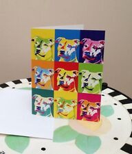 Blue Nose Pit Bull Pop Art Note Cards - Set of 5 - New - FREE SHIPPING
