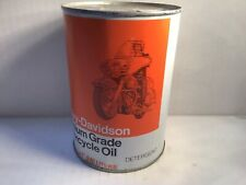 Vintage Harley Davidson Oil Can Quart Metal gas rare sign tin handy Indian Shell