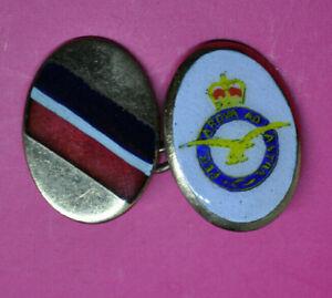 Vintage Lambourne's Royal Air Force heraldic armorial chain cufflinks