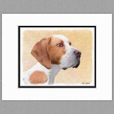 Pointer Dog Original Print 8x10 Matted to 11x14