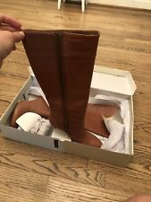 Bannana Republic Womens Leather Boots Tawny Brown Size 9.5 In Box Worn Once
