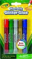 Crayola Washable Glitter Glue, Bold Blazes, Assorted Colors, 5 Count
