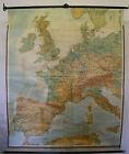 Schulwandkarte Wall Map Western Europe England France Spain Map 1958 4 11/12ft