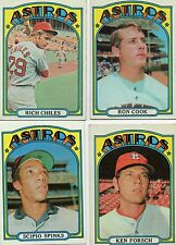 4-1972 topps lot astros 56 rich chiles 202 spinks 339 ron cook 394 ken forsch