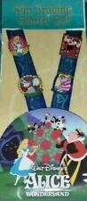 Disney Lanyard Pin Starter Set Alice in Wonderland Authentic New Free Shipping