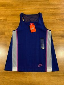 Nike Women's Training Tank Top XS Navy 726023 455 NEW With Tag