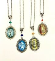 Harry Potter Hogwarts Pendant Necklace Jewelry Slytherin Ravenclaw Hufflepuff