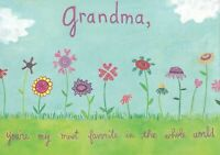 "Papyrus Mother's Day card -to Grandma flowers ""You're my most favorite in world"""