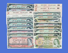 CANADA SUPERB COLLECTORS LOT#2  - 20 x 1954  to 1986 BANKNOTES