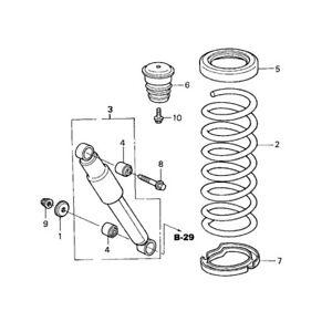 Coil Spring Insulator Rear Lower GENUINE 52748S0XA00 For Honda Odyssey Pilot