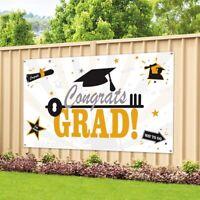 Large Graduation Celebration Party Banner Photo Backdrop Hanging Decor 180*95cm