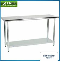 "Commercial Kitchen 24"" x 60"" Stainless Steel Work Food Prep Table NSF Counter"