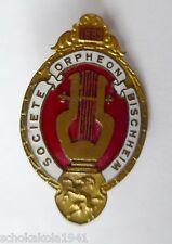 Ehrennadel --societe orpheon Bischheim 1889 Elsass-- emailliert