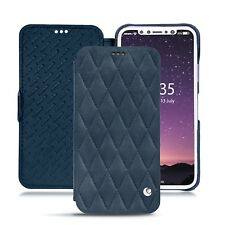Case NOREVE Leather Wallet Nubuck Suede for Apple IPhone X - Jean vintage