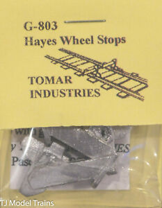Tomar Industries  #G-803 Hayes Wheel Stop G (G Scale) Light Cast (White Metal)