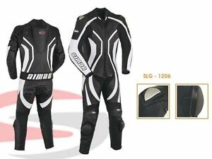 Men Motorcycle Motorbike CE Approved Armour Leather Racing Suits ONE PIECE