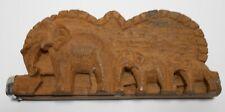 BALANCE TREBUCHET   A OPIUM EN BOIS DECOR RONDE D'ELEPHANTS