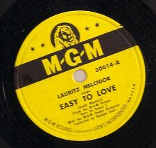 Lauritz Melchior on 78 rpm MGM 30014: Easy to Love (Porter)/You are My Heart
