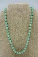 Very Beautiful Jadeite Individually Knotted Beads Necklace