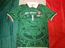 a72364b20a5 ABA Sport Mexico 1998 JORGE CAMPOS #1 Green Retro Jersey Size M