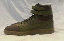 Puma contact Sky II Hi Duck Boot Mens Green Leather High Top Lace Up size 13
