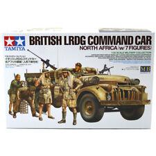 Tamiya 32407 British LRDG Command Car Model Kit (Scale 1:35) with 7 Figures