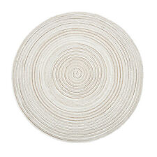 Round Placemats Braided Cotton Place Mats 14 inch Kitchen Dining Holiday Decor