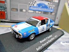 RENAULT 17 Gordini TL Rallye 1974 #12 Therier Press on Regardless Atlas SP 1:43