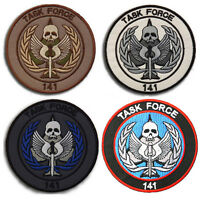 4PCS CALL OF DUTY TASK FORCE 141 USA ARMY U.S. PATCHES MILITARY BADGE HOOK PATCH