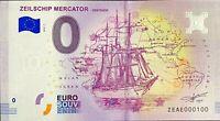 BILLET 0  EURO  ZEILSCHIP MERCATOR OOSTENDE  BELGIQUE  2018  NUMERO 100