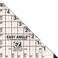 EZ QUILTING~EASY ANGLE RULER~1 TO 4.5 IN~ROTARY CUTTER~HALF SQUARE TRIANGLES