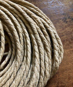 Natural Jute Rope Electrical Cord - Rustic Style Hemp Covered Lamp/Pendant Wire
