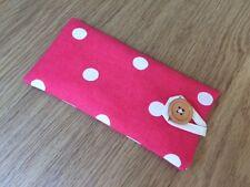 Handmade Fabric Glasses / Sunglasses Case / Pouch -  Cath Kidston Red Spot