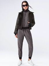 Athleta 'Derek Lam' Elevate Sherpa Fleece Leather Jacket, Black SIZE S   #153817