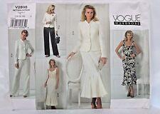 Women's VOGUE Sewing Pattern V2898 SUIT MERMAID DRESS PANTS TOP 10-12-14 UNCUT