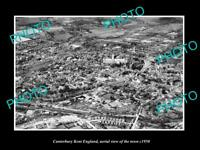 OLD 6 X 4 HISTORIC PHOTO OF CANTERBURY KENT ENGLAND, AERIAL VIEW OF TOWN c1950 1