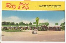 Ritz Motel and Cafe, US Highway 71 271 FT FORT SMITH AR Vintage Postcard